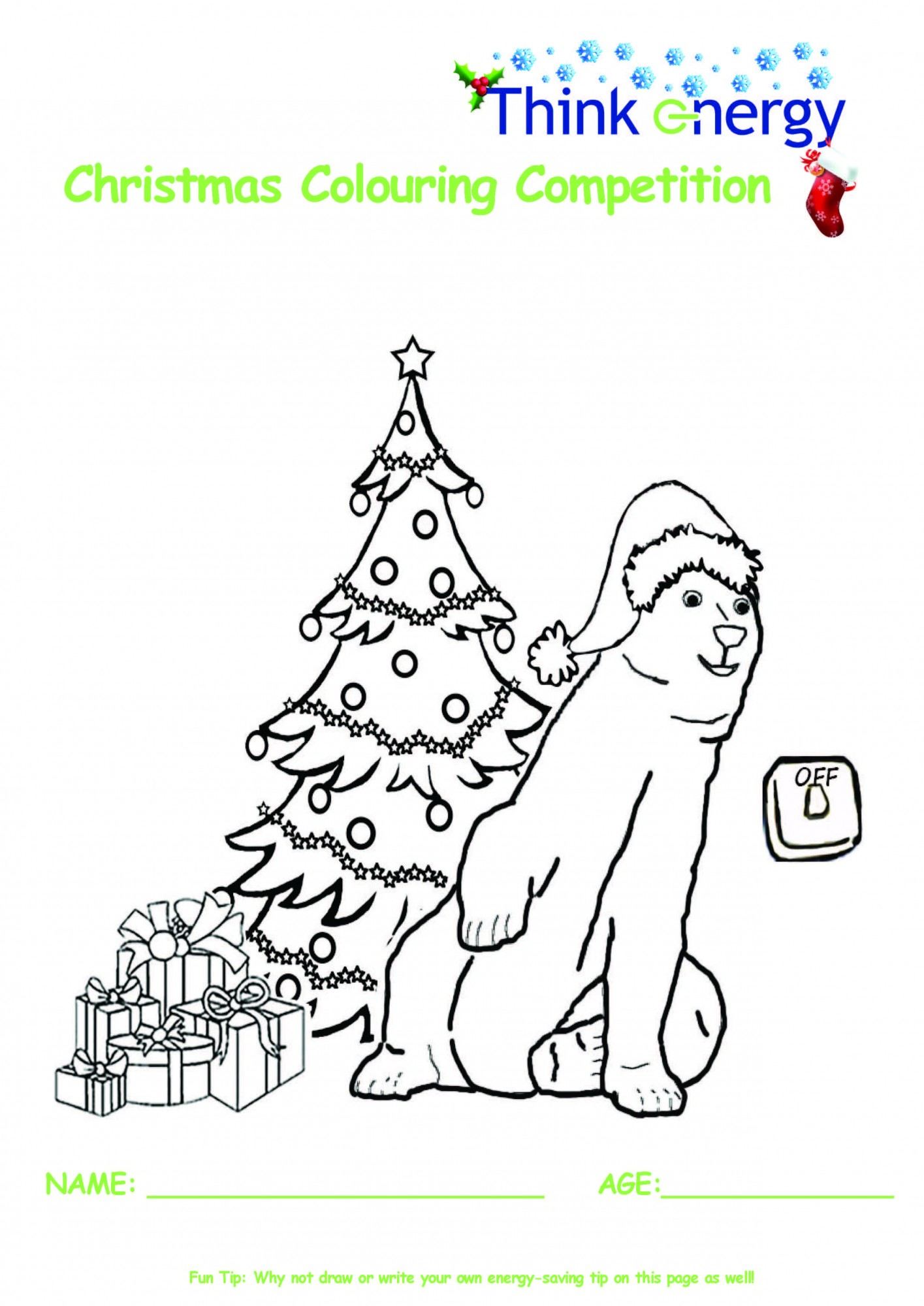Sdcc Christmas Colouring Competition Energy Efficiency